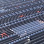 Montage van zonne panelen doormiddel van een montagerails