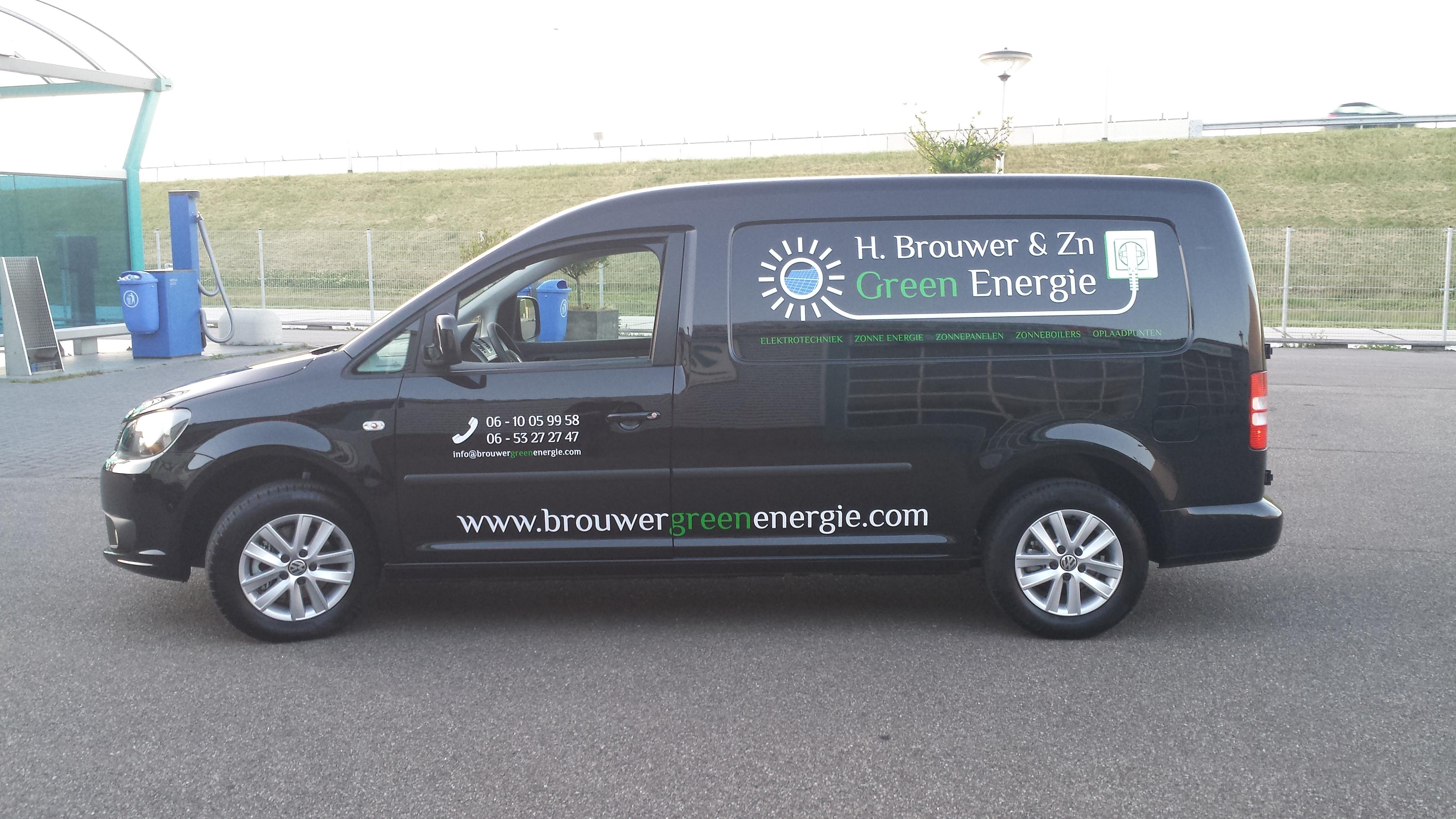 Autobelettering Brouwer Green Energie